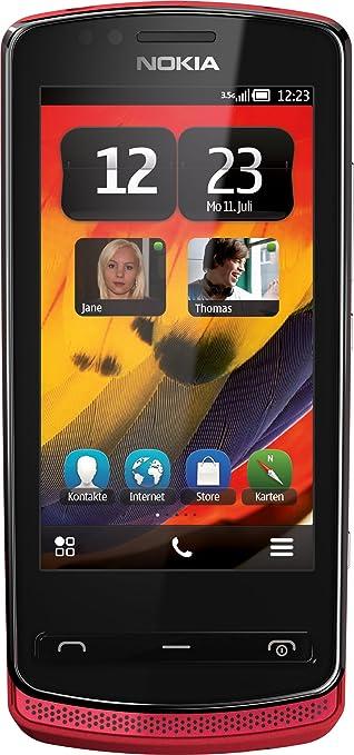 Nokia 700 Smartphone  - Ecran tactile 8,1 cm -3,2 pouces - Appareil photo 5 mégapixels - HSDPA - Mémoire 2 Go - Rouge (Import Allemagne)