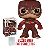Funko Pop Flash TV Series: The Flash Vinyl Figure (Bundled with Pop Protector Case) (Tamaño: 3.75 inches)
