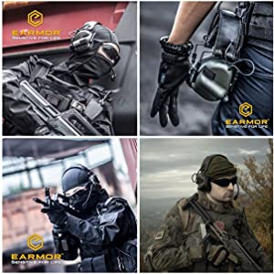 OPSMEN M31-MOD1 Sound Amplification Gun Shooting Noise Canceling Hearing Protection Earmuff Grey (New Version 2018) (Color: 05-Grey, Tamaño: Full Size)