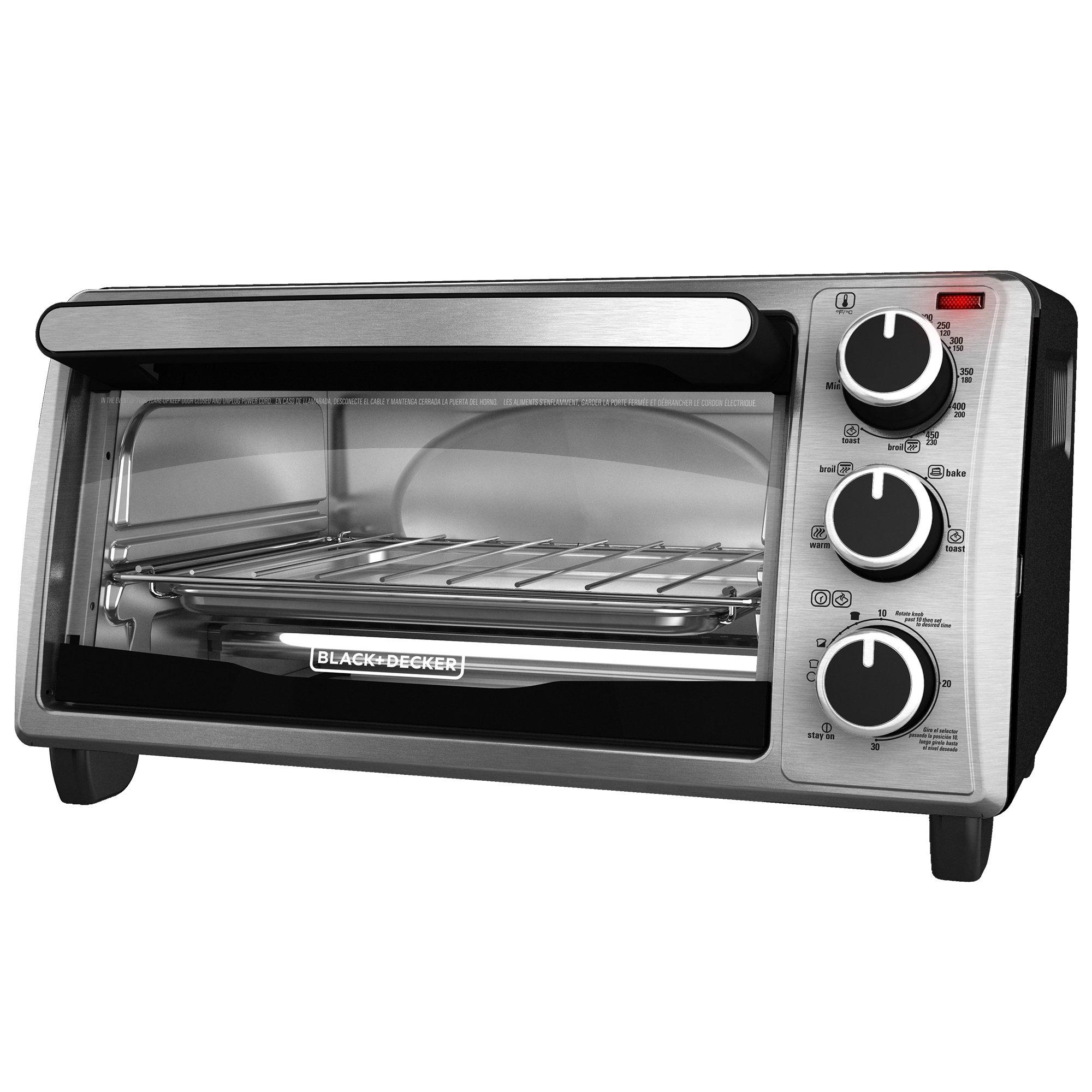 Galleon - BLACK+DECKER TO1303SB 4-Slice Toaster Oven ...