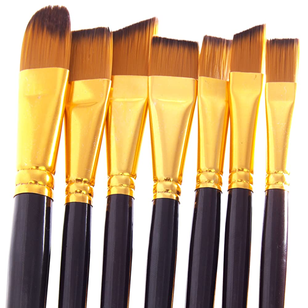 Paint Brush Set - 15 Art Paint Brushes for Acrylic ...