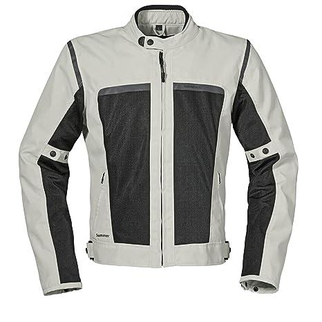 Germot sUMMER mesh blouson de moto en tissu-gris clair/noir
