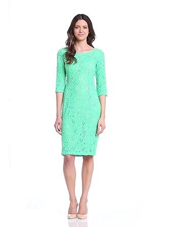 In Wear Women's Patrice 3/4 Sleeve Lace Dress, Landscape, Size 8