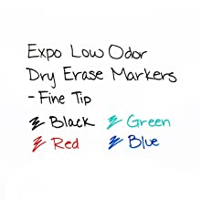 Expo Low Odor Dry Erase Pen Style Markers, Pack of 4, Colored (86674)