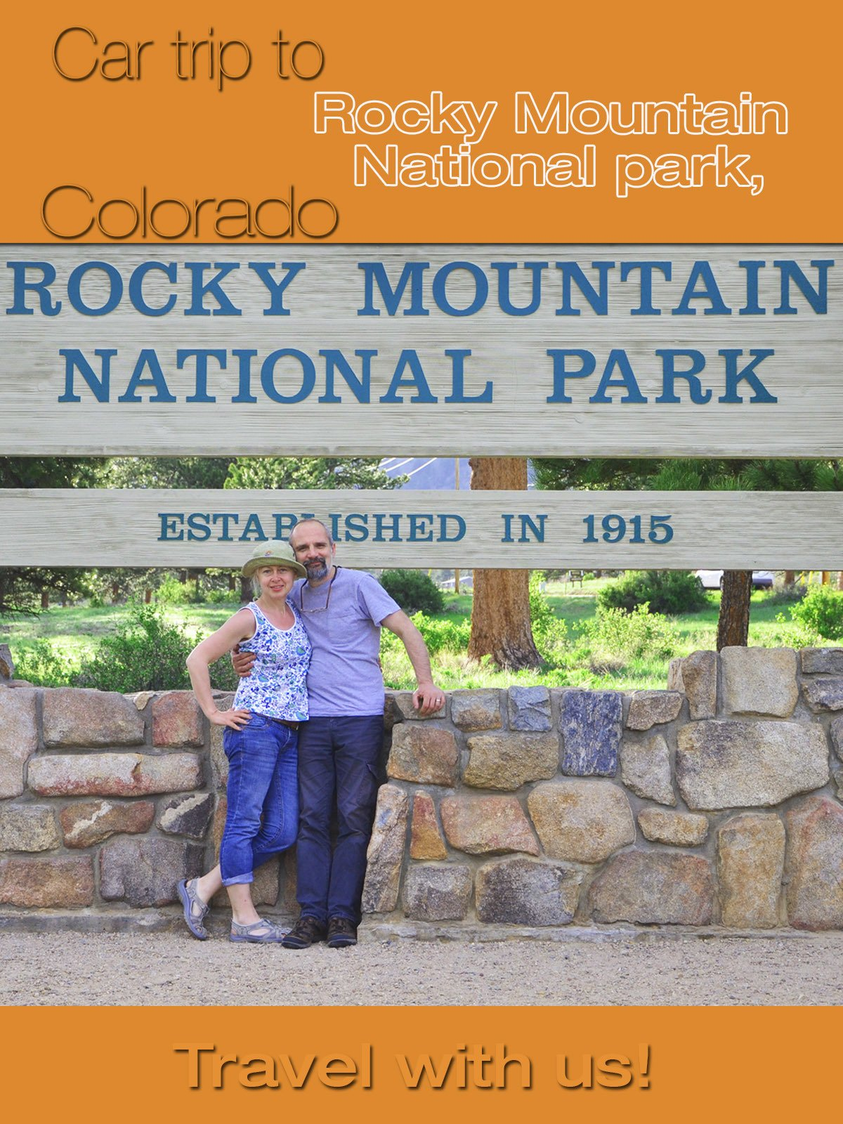 Car trip to Rocky Mountain National park, Colorado