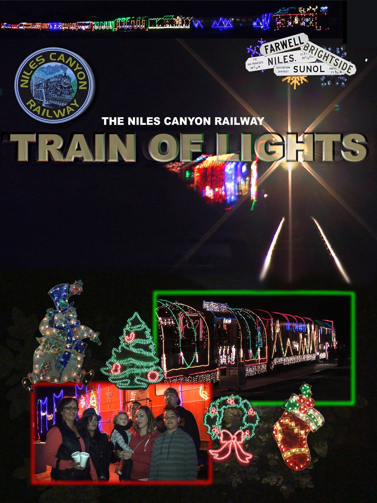 "Niles Canyon Railway ""Train of Lights"""