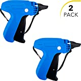 Clothes Tagging Gun Set (2 Pack) by desired tools: Handheld Security and Pricing Label Tag Applicator for Boutiques, Family Yard Sales, Flea Markets & Warehouses - Standard Fastener Attachments (Color: Blue)