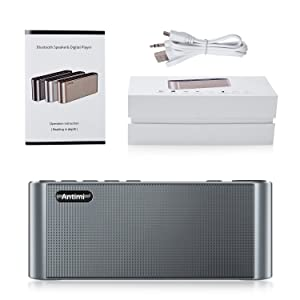 Antimi Bluetooth Speaker,FM Radio Player,MP3 Player Stereo Portable Wireless Speaker Drivers with HD Sound, Built-in Microphone, High Definition Audio