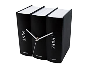 Karlsson Book - Reloj de pared, color negro   Comentarios y más información