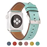 Pantheon Compatible Apple Watch Band 42mm 44mm for Women - Leather Band Compatible iWatch Bands/Strap for Series 4 3 2 1 (Color: Teal, Tamaño: 42mm / 44mm)