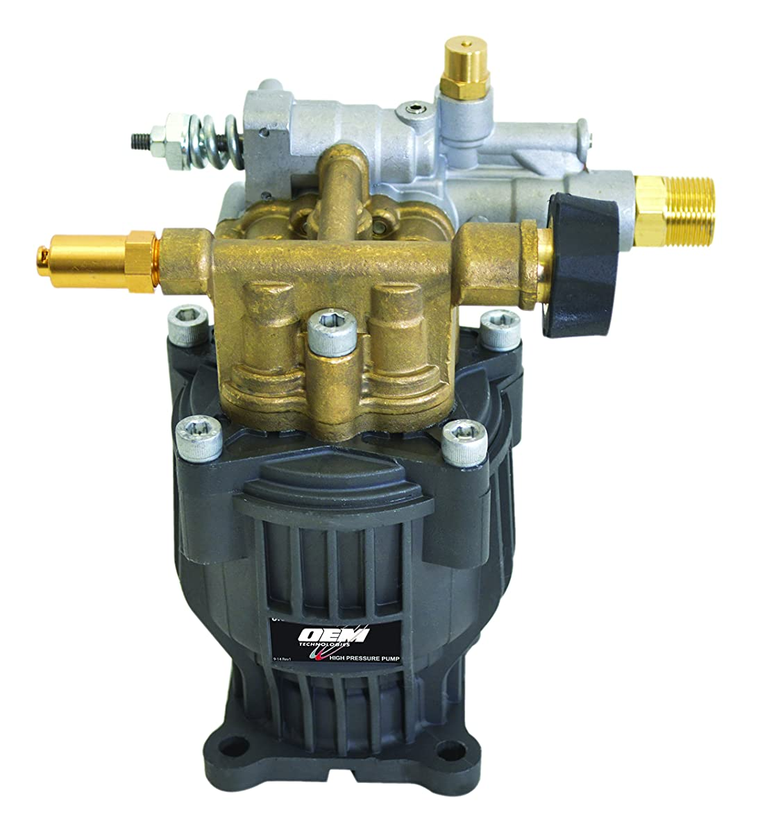 SIMPSON Cleaning 90029 Axial Cam Horizontal Pressure Washer Replacement Pump 8.6CAH12B 3100 PSI @ 2.5 GPM with Brass Head and PowerBoost Technology