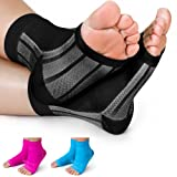 1st Elite X-Sleeves- Compression Socks Men Women - Highest Compression for Serious Foot Pain (32-44mmhg) Plantar Fasciitis Arch Support + Foot Brace (2 Compression Sleeves) (Color: Black, Tamaño: Medium)