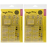 Waffle Flower Crafts 271020 Clear Calendar Stamps, 4 x 6 (?wo ?ack) (Tamaño: ?wo ?ack)