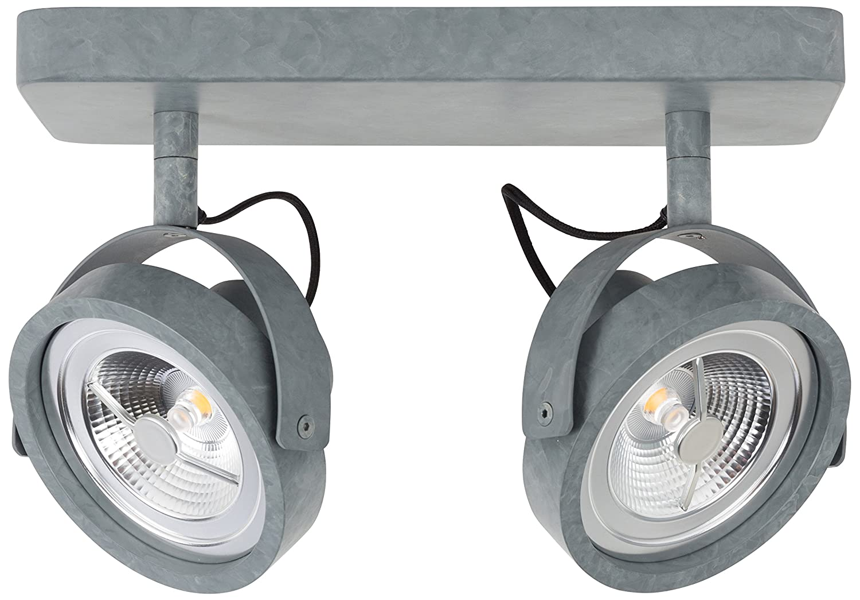 Zuiver 5500013 Spot Light Dice-2 LED Galavanised, Stahl, grau