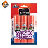 Elmer's Glue Stick (E579), Disappearing Purple, 3 Sticks 3 Pack