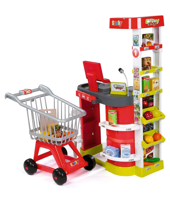 Smoby - City Shop Kaufladen mit Einkaufswagen