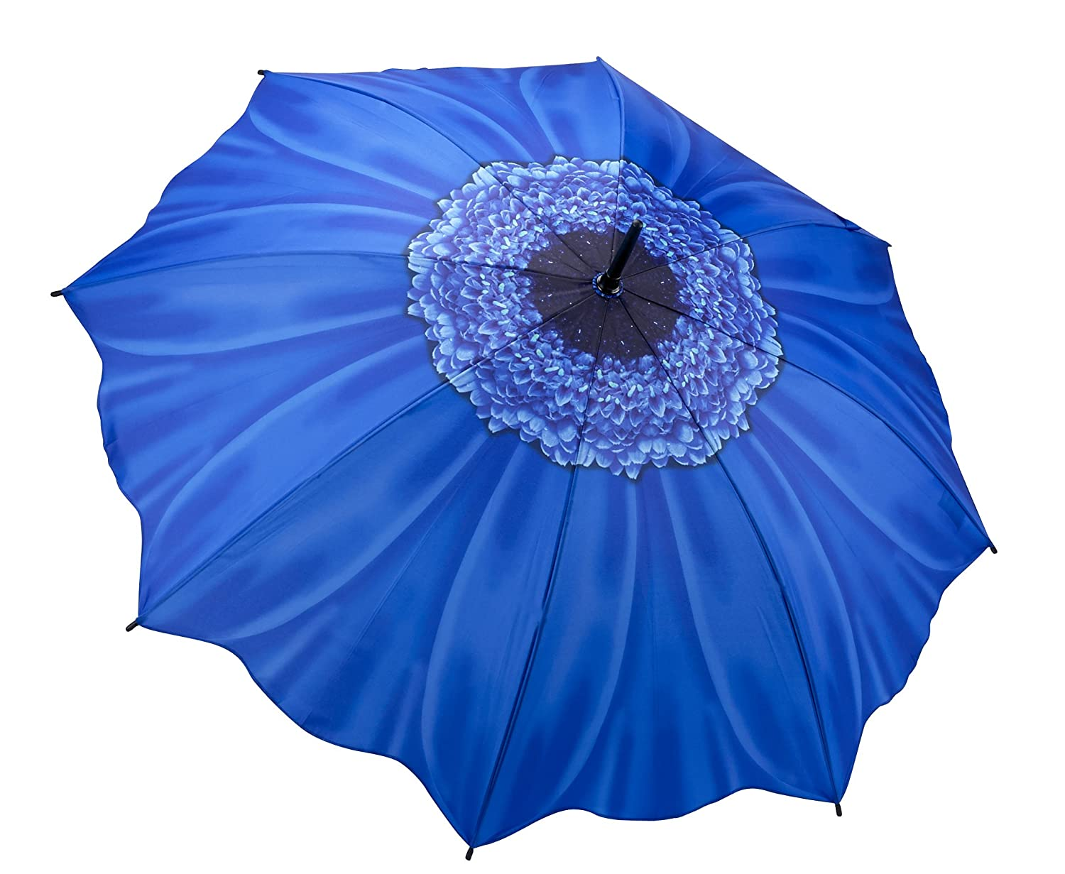 Blue Daisy Auto Open Stick Umbrella