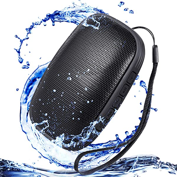 Waterproof IPX5 Portable Bluetooth Speakers, Water Resistant Wireless Speaker with 24 Hour Playtime Superior Sound and Enhanced Bass for Indoor/Outdoo