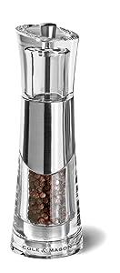 Cole & Mason Bobbi - Molinillo de pimienta, de acrílico y cromo, 185 mm   Más información y comentarios de clientes