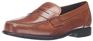 Rockport Men's Classic Lite Penny Loafer,Cognac,11 M (D)
