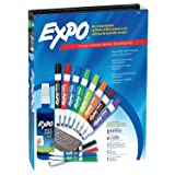 EXPO 80054 Low-Odor Dry Erase Markers, Chisel Tip, Assorted Colors, 15-Piece Set (Color: Assorted, Tamaño: 12-Ct with Cleaner + Eraser)