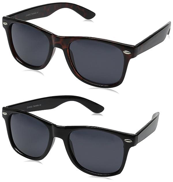 2934824e3e zeroUV ZV-8452mn Polarized Wayfarer Sunglasses (Pack of 2)