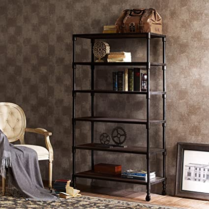 Metro Shop Renate Bookcase Coffee Finish-Renate Coffee Bookcase
