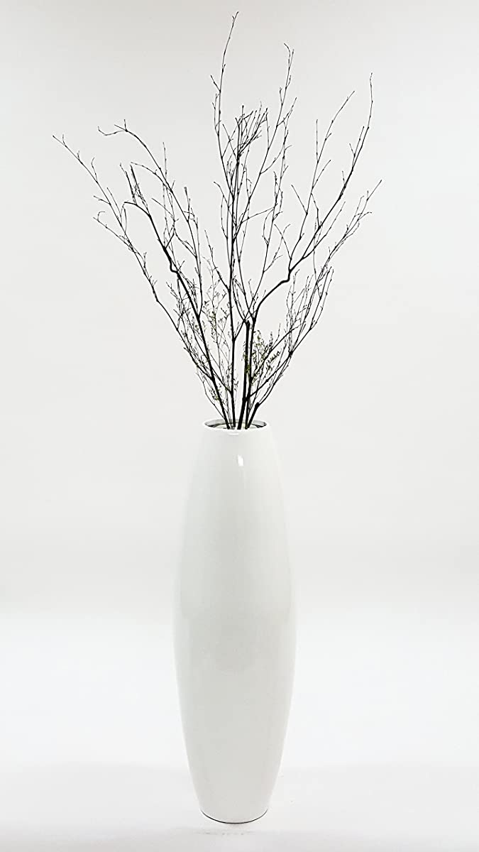 Greenfloralcrafts 36 in bamboo cylinder floor vase branches bamboo cylinder floor vase branches lacquer white reviewsmspy