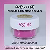 Prestige THERMOCHROMIC Pigment That Changes Color at 88°F (31 °C) from Colored to Transparent (Colored Below The Temperature, Transparent Above) Perfect for Color Changing Slime! (2g, Rose RED) (Color: ROSE RED, Tamaño: 2g)