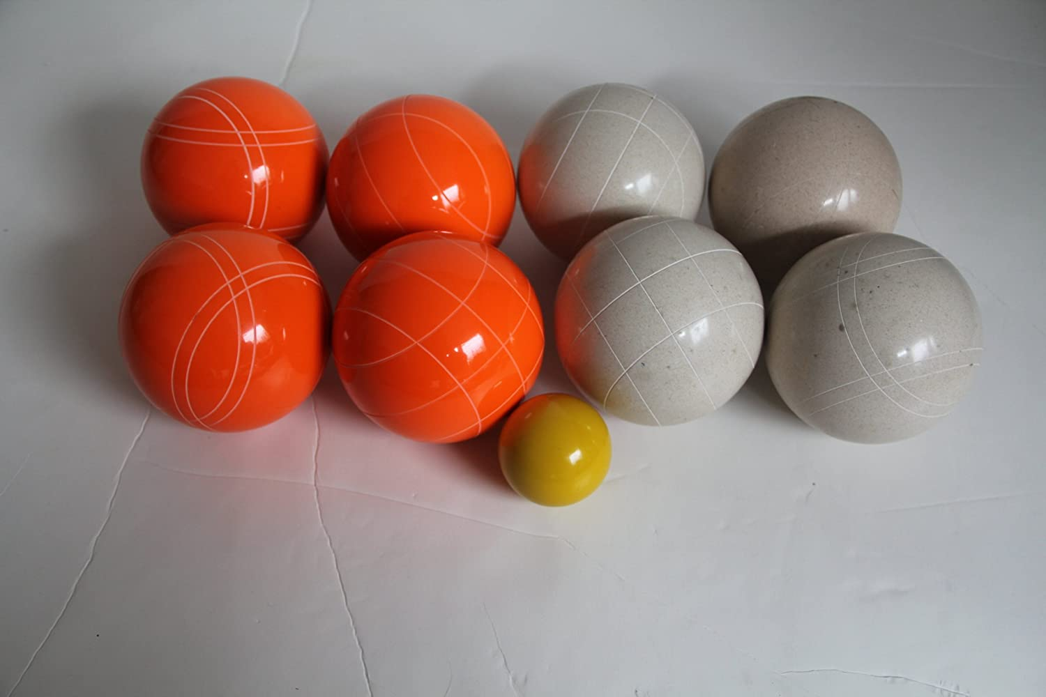 Premium Quality EPCO Tournament Bocce Set – 110mm White and Orange Bocce Ball… online kaufen