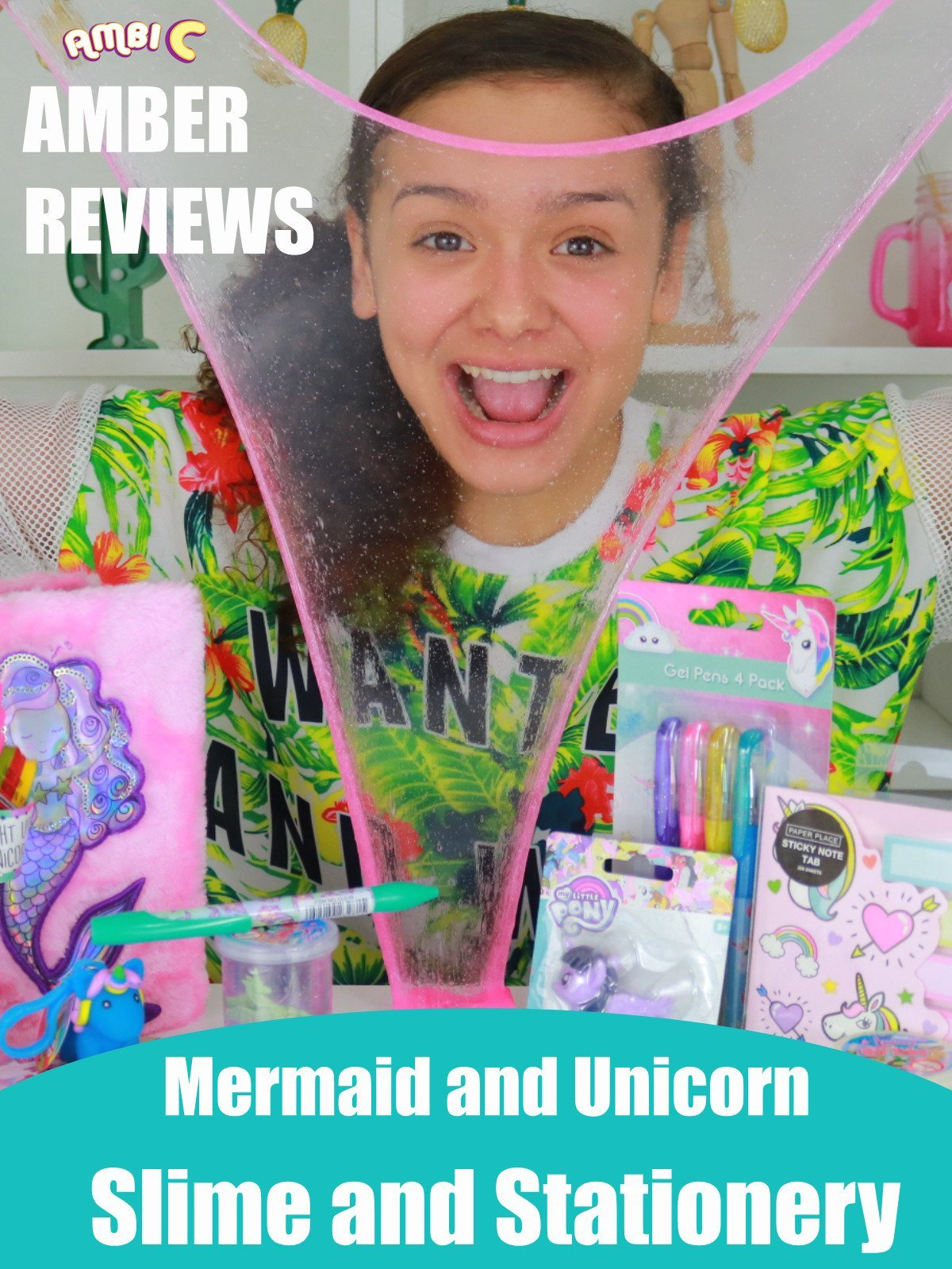 Amber Reviews Mermaid and Unicorn Slime and Stationery