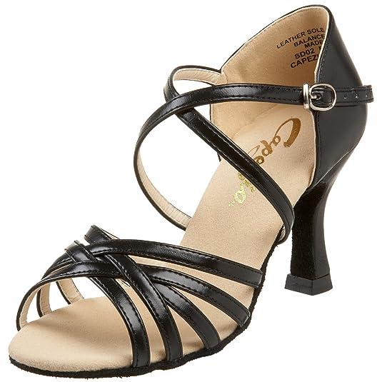 "Ladies Lifestyle Capezio WoSD02 Rosa 2.5"" Flared Heel Shoe Cheap Price Multi-Colors"