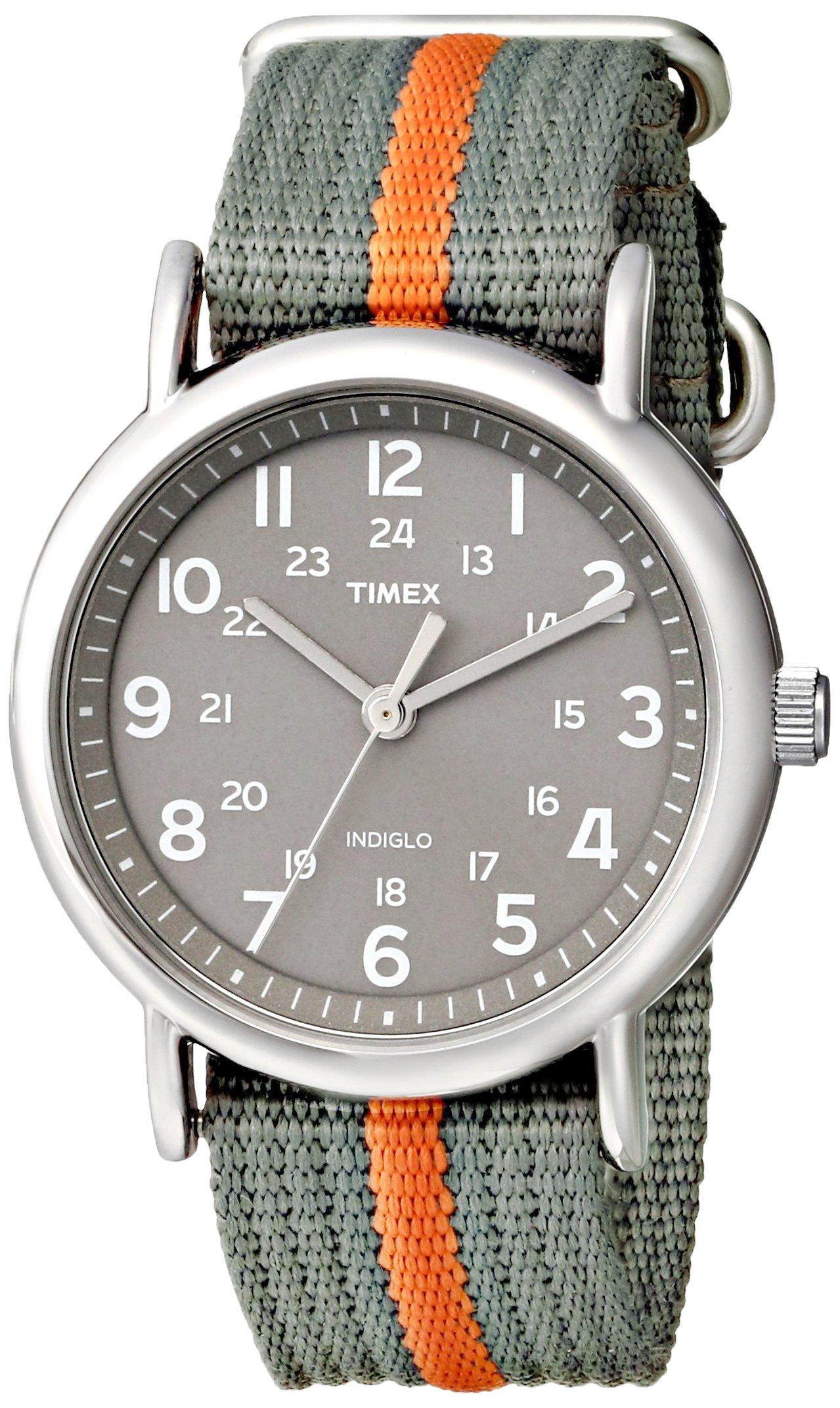 Timex Weekender Indiglo Analog Grey Dial Unisex Watch - T2N649