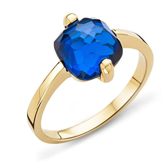 Miore Ladies 9ct Yellow Gold Cushion Cut Ring