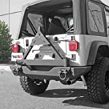 Rugged Ridge 11546.42 Black Tire Carrier Add-On for XHD Rear Bumper (Color: Black)