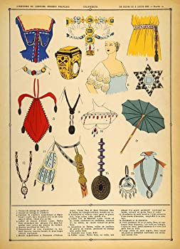 1922 Pochoir Renaissance Costume Jewelry
