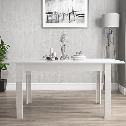 Vivienne Extending White High Gloss Dining Table