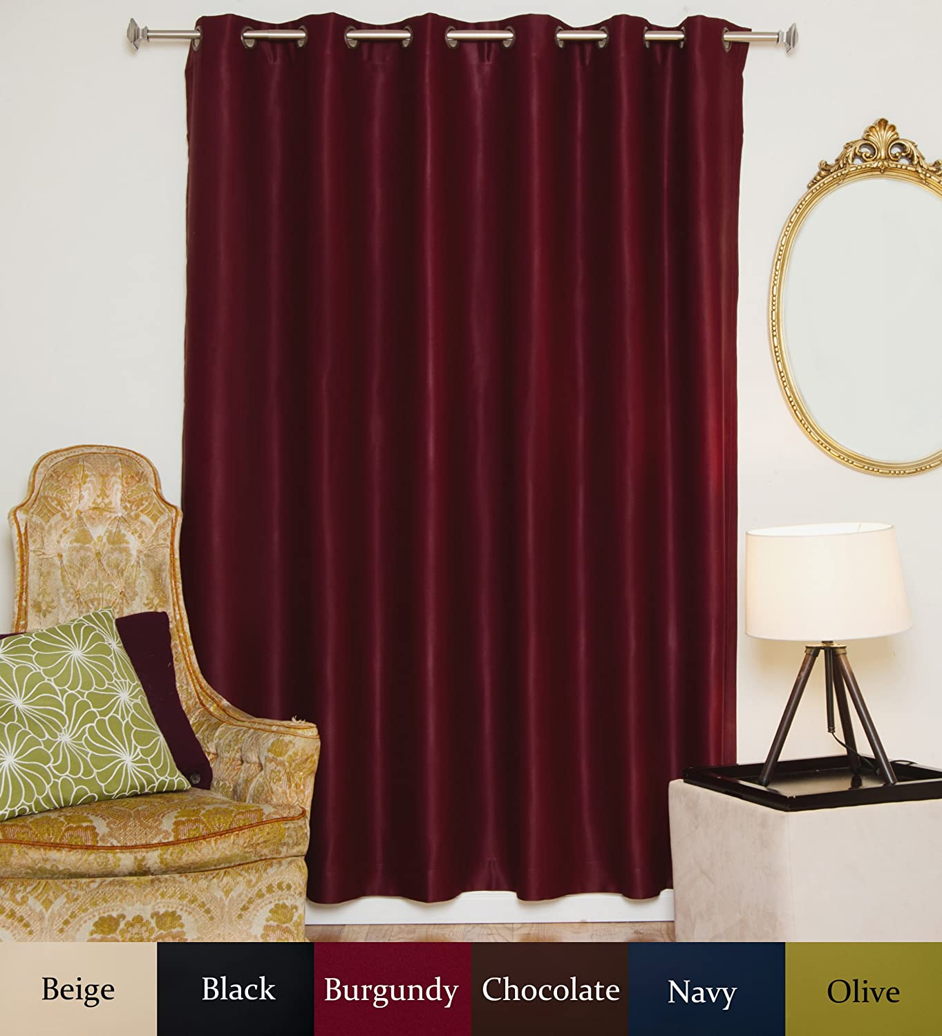 ... brass blackout curtain panel the curtain set is made as a single panel