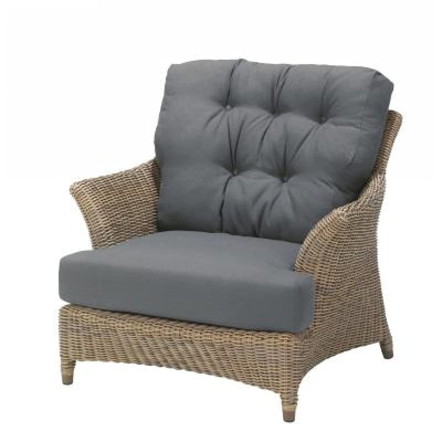 4Seasons Outdoor Valentine Sessel living Polyrattan pure