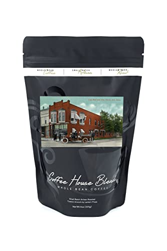 Coffee Beans with Iola, Kansas scene