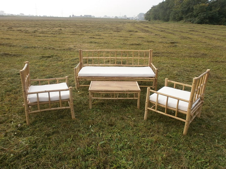 Bambus Gartenmöbel Gartenset Balkonmöbel Balkonset Sitzgarnitur Holzmöbel Outdoor-Möbel Sitzgruppe