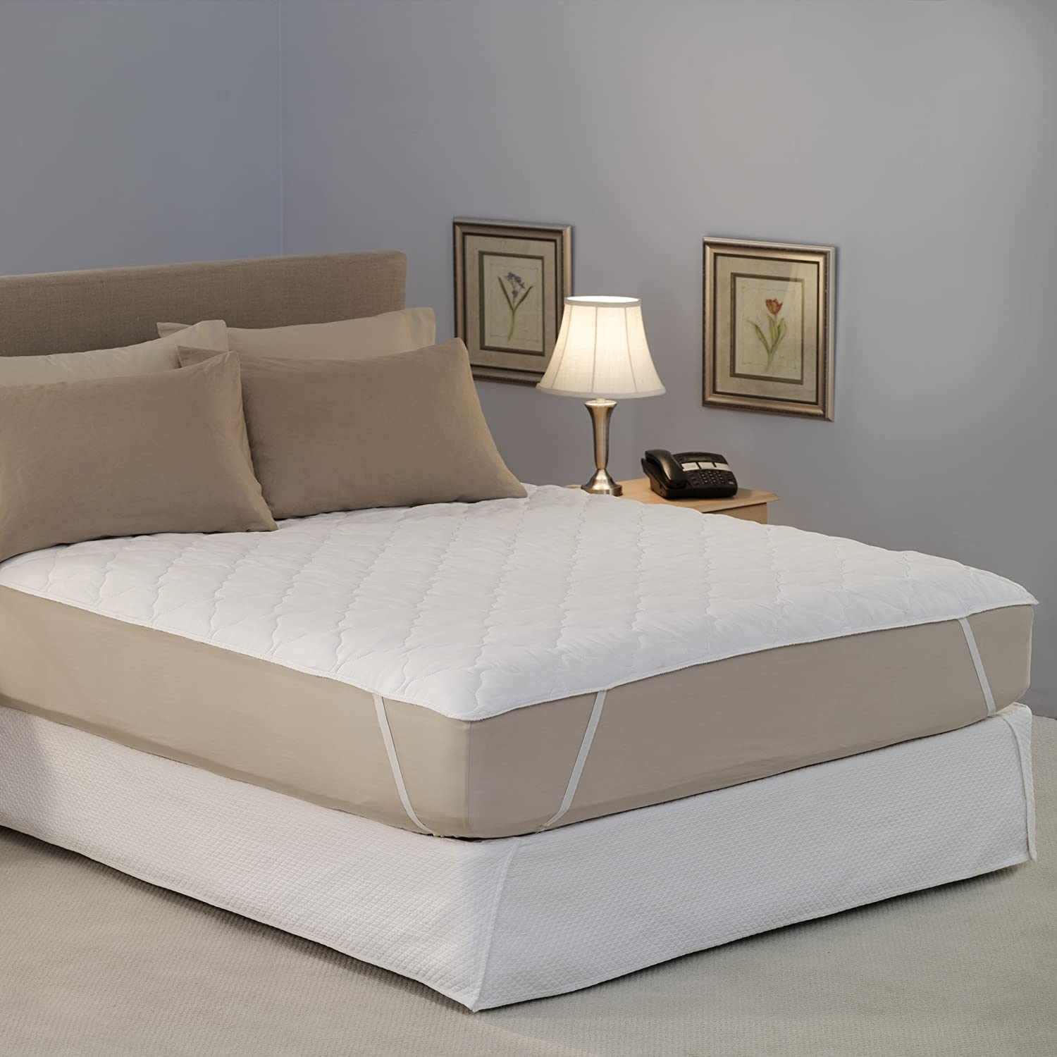 California King Quilted Waterbed Mattress Pad Pad Only Ebay
