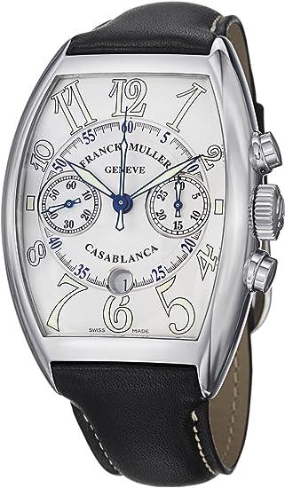Franck Muller Casablanca Date Men's Black Leather Strap Automatic Chronograph Watch 8885 C CC DT SS
