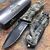 MASTER USA Army ACU Camo Skull Medallion Hunting Tactical Rescue Pocket Knife