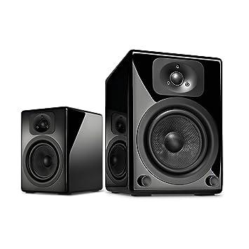 Wavemaster TWO BT Paire d'enceintes bibliothèques amplifiées Bluetooth/aptX 60 W Noir