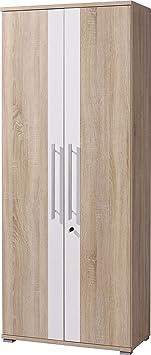 Germania 0608-157Armario Master, 75x 185x 38cm, madera de roble/blanco