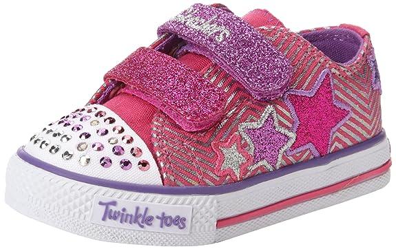 Skechers-Kids-10249L-TWINKLE-TOES-S-LIGHTS-Shuffles-Triple-Up-Sneaker-with-blinking-lights-Little-Kid-