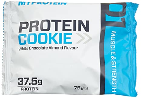 Myprotein Max Protein Cookie Box White Chocolate Almond 12 x 75 g, 1er Pack (1 x 900 g)
