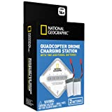 National Geographic 4-Port Drone Charging Station with TWO Extra 3.7V 750mAh Lipo Batteries! Charge 4 Batteries at Once!