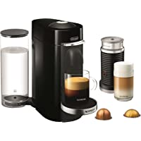Nespresso VertuoPlus Deluxe Coffee and Espresso Maker with Aeroccino Milk Frother by De'Longhi, Black